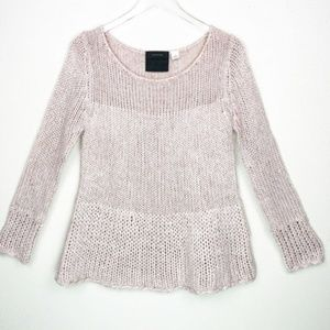 Anthropologie Guinevere Sweater Chunky Knit Pink
